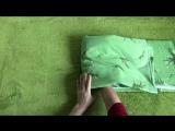 Как сложить комплект постельного белья в кармашек Проще простого!