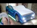 Кровать-машинка с подсветкой на сенсорном пульте