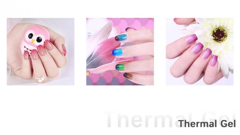 BORN PRETTY Thermal Shimmer Glitter Nail Gel 10ml Temperature Color Changing Soak Off UV Gel Varnish Manicure Nail Art