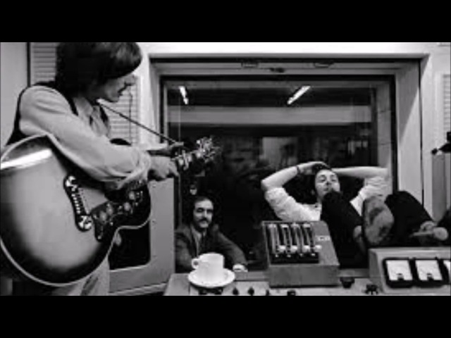 The Beatles Im only Sleeping (unedited) acoustic version (rehearsal)