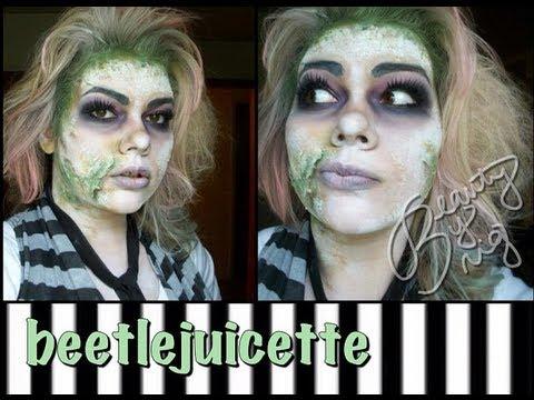 Beetlejuicette (Female Beetlejuice Makeup Tutorial)