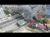 Падение опоры ЛЭП 230 кВ из-за пожара
