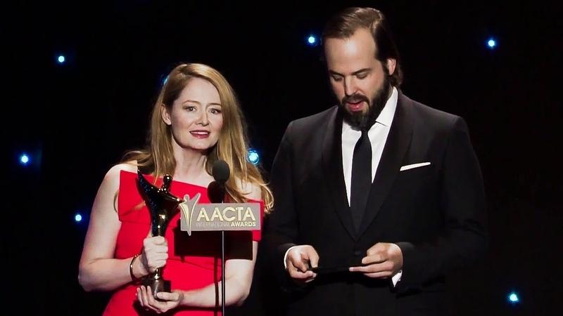 Miranda Otto Angus Sampson present an award to Rooney Mara introduce Michael Caton at AACTA 2016