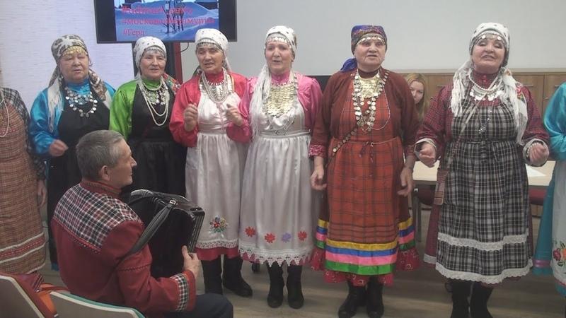 Кырӟась сюлэмъёс в Москве на этнографическом вечере РОО Герд