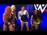 Becky Lynch, Renee Young, Dasha Fuentes, Naomi