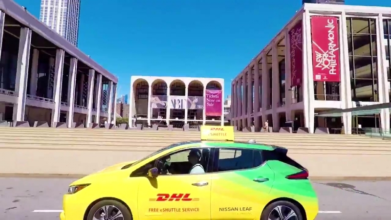Ahead of the FIAFormulaE NYCEPrix DHL are providing FREE rides in our fleet of full electric Nissan Leafs throughout the streets