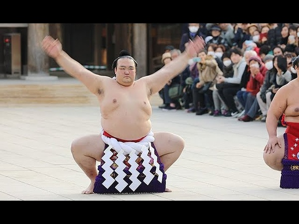 大相撲3横綱が新春土俵入り=明治神宮