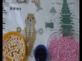 Игрушка-сувенир.  Урок 1. Розовый слон ч1 видио плетение из бисера для начинающих животные.