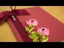 DIY Greeting Card: Paper Quilling Flower Art by HandiWorks