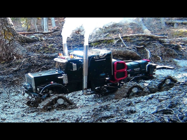RC ADVENTURES - Muddy Tracked Semi-Truck 6X6 HD OVERKiLL 4X4