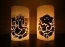 Paper Crafts Diwali Decoration Ideas Candle illuminated Lord Ganesha Home Decor