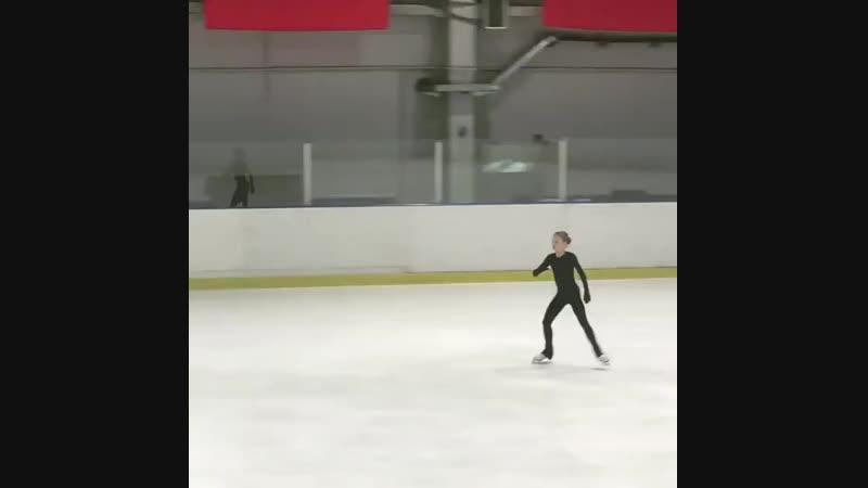 Александра ТРУСОВА, Тренировка 4Lz3T, 4-й этап Кубка России Ростелеком 2018-2019