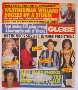 Журнал Globe Magazine, 6 июня 1992 года: Секретное домашнее видео вдребезги разбивает чистый образ звезды.