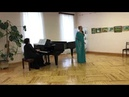 Anchugova Maria. Tchaikovsky Ariozo Natashi from the Opera Oprichnik»