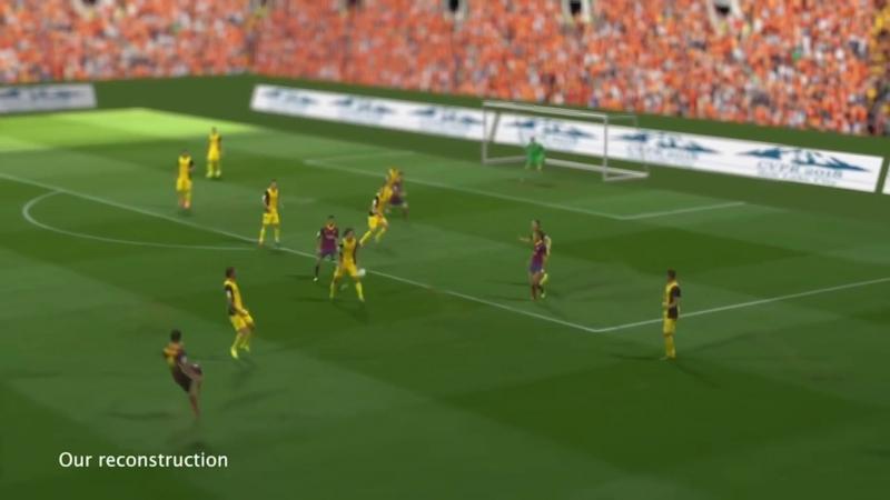 Американский разработчик научился проецировать футбольные матчи в 3D на обычный стол