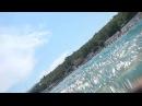 на Черном море (пляж Дельфин)