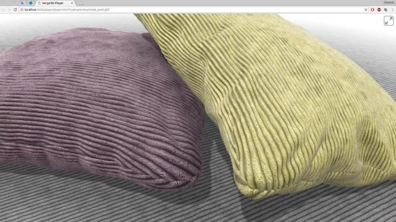 Вельвет-корд - новый материал из библиотеки Verge3D