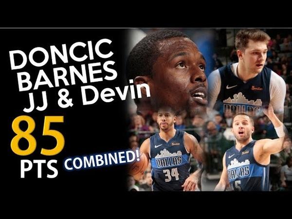 Luka Doncic, Harrison Barnes, JJ Barea Devin Harris Full Highlights vs Nets - 21.11.18