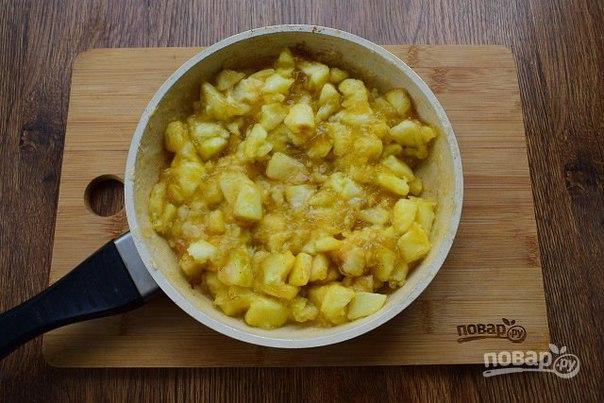 Яблочный пирог-чизкейк