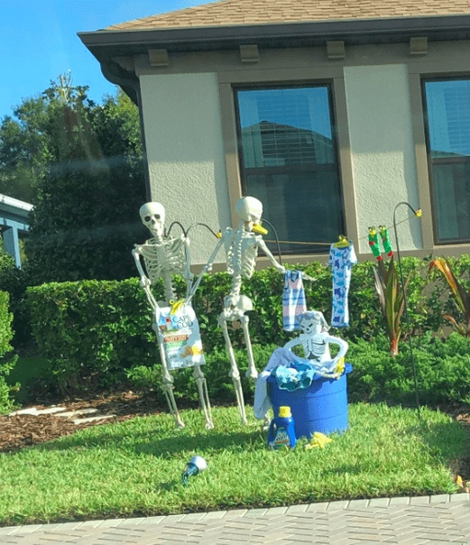 Жительница Флориды Сами Кампаньяно рассказалав своем твиттереоб удивительных соседях, которые устроили перед Хэллоуином настоящую выставку. Семья не стала ограничиваться традиционным