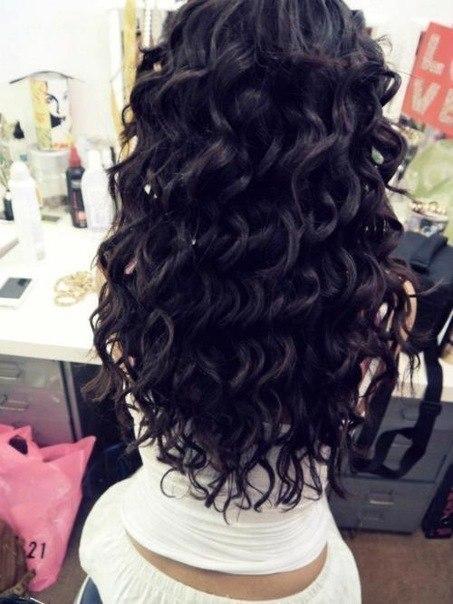 Прически на черные волосы длинные