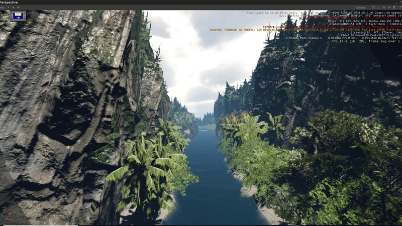 Meu primeiro landscape feito em cryengine 5.3