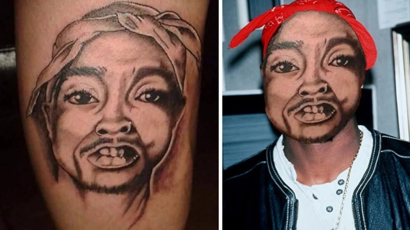 Face Swapped Tattoos To Show How Bad They Really Are