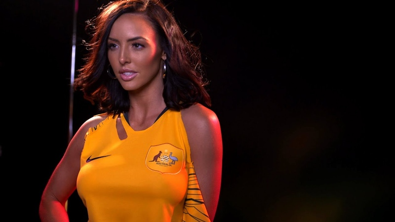 Video@kayroyce | Behind the scenes of WWE's World Cup photo shoot