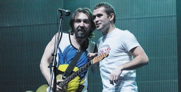 Сергей Шнуров - слева и Александр Кержаков. Оба будут работать на «Матч ТВ»
