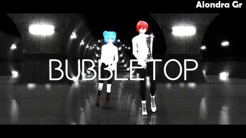 【MMD 暗殺教室】Bubbletop【Shiota Nagisa Akabane Karma】