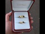 Новые золотые обручальные кольца Cartier love