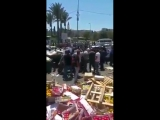Today, Zionist occupation soldiers doing what they can do best...destroying Palestinian merchants fruits at Damascus Gate
