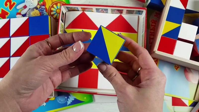 обзор игры Никитиных Сложи узор: деревянные и пластмассовые