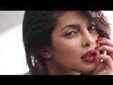 Приянка на съемках фотосессии для журнала Harper's Bazaar Arabia .