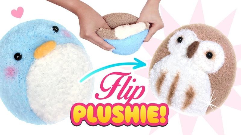 DIY VIRAL REVERSIBLE PLUSHIE Owl Penguin Sock Plush - Cute Budget Xmas Gift Ideas