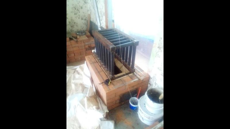 Печь 2.5 х3.5 кирпича с котлом. Часть 1.