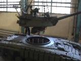 Установка башни Т-55 на шасси Т-64 и заводские испытания.