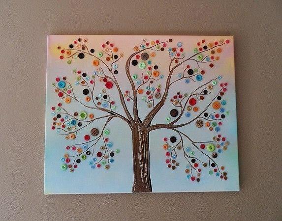 Панно «Дерево с пуговицами»