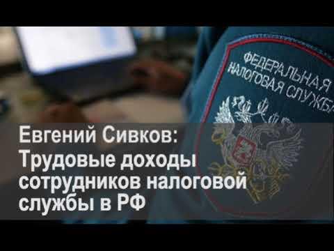 Евгений Сивков Трудовые доходы сотрудников налоговой службы в РФ