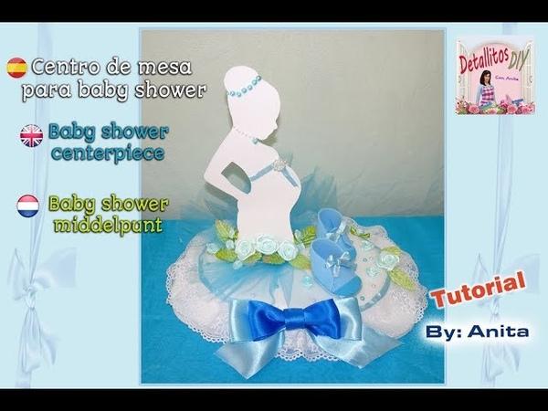 Centro de mesa baby shower / Baby shower centerpiece / Baby shower middelpunt