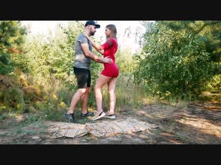 Fuck me hard in the forest - outdoor blowjob and doggystyle