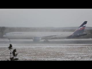 Аэрофлот 777 занимает исполнительный. эффектно