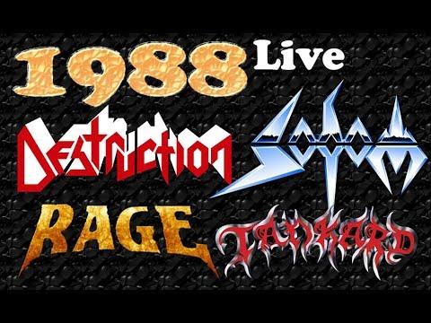 Destruction🔴Sodom🔴 Tankard 🔴Rage *Live 1988*