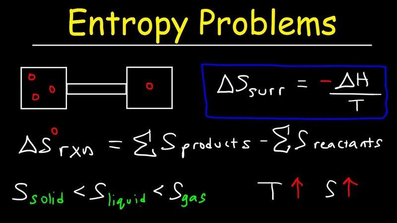 Entropy Practice Problems, Enthalpy, Microstates, 2nd Law of Thermodynamics - Chemistry