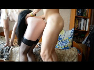 Imercy1 hard fucked russian deep hole in stockings and skirt, very hot
