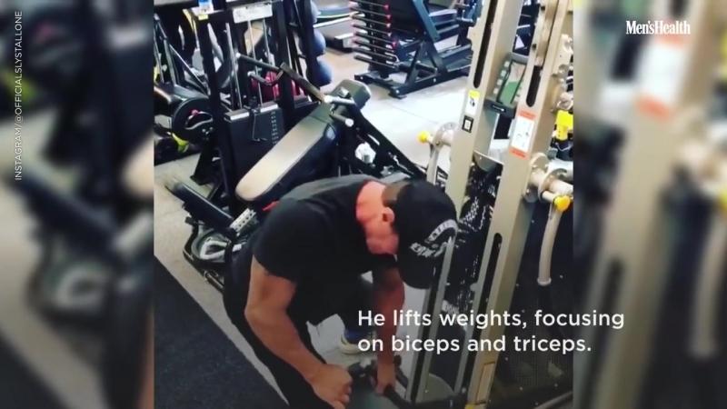 Сильвестр Сталлоне «Creed 2» тренировка
