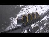 Самый крутой фуникулер в мире с углом наклона 48 градусов в Швейцарских Альпах