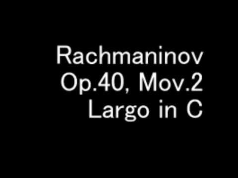 Rachmaninov Piano Concerto 4 Largo Op. 40, Mov. 2