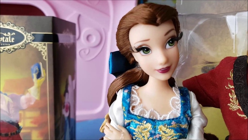 Disney Fairytale collection Belle and Gaston dolls review/ Обзор кукол Белль и Гастон