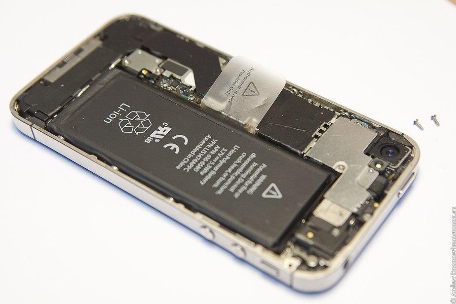 ремонт Apple замена стекла сервис антенны iPhone 4